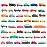 Fototapety Car models icon set