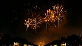 firework  to cerebrate the king of Thailands birthday ceremony at Royal Park Rajapruek
