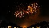 firework  to cerebrate the king of Thailands birthday ceremony at Royal Park Rajapruek
