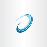 wave water flow design icon logo vector - 124169430