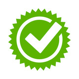 Tick approval star icon