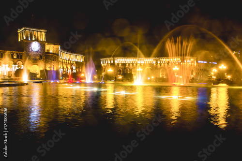 Foto op Aluminium Las Vegas night fountains