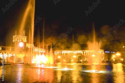 Fotobehang Las Vegas night fountains