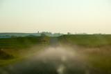 2CV on dirt road, summer