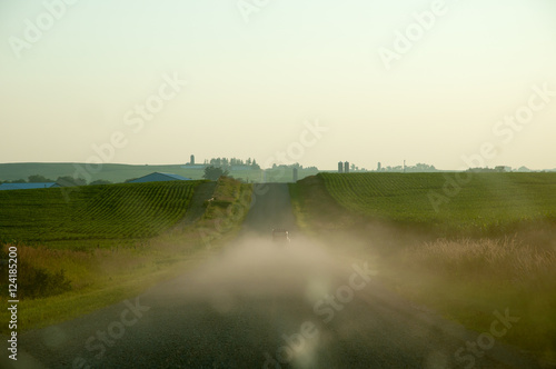 2CV on dirt road, summer Poster