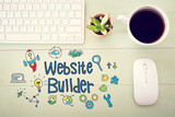 Website Builder concept with workstation