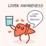 Healthy Poster. Liver Awareness