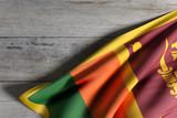 Democratic Socialist Republic of Sri Lanka flag waving