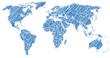 blue world map sketch