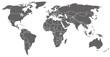 graue Weltkarte mit weißen Landgrenzen