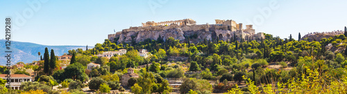 Fotobehang Athene Day Athens panoramic skyline with Acropolis view against blue sky, Greece