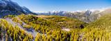 Valmalenco (IT) - Panoramica aerea in zona Prabello con Monte Disgrazia sul fondo