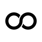 Infinity symbol icon, aka lemniscate, looks like sideways number eight. Mathematic symbol representing the concept of infinite figure. - 124228048