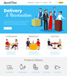 Restaurant Service Reservations Flat infographic Banners