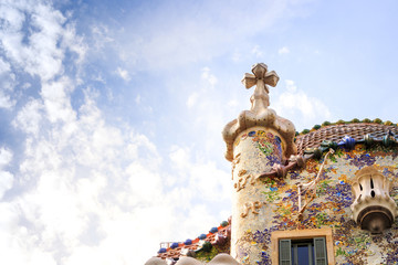 Casa Batllo by Antoni Gaudi in Barcelona, Spain