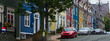 Colorful homes and cars in St.John's, Newfoundland