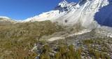 Aerial 4k -  Valmalenco (IT) - Sorvolo autunnale verso il Pizzo Scalino