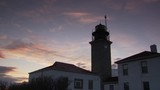 Lighthouse timelapse, sunset beauty