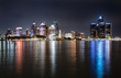 Detroit Michigan Night Skyline