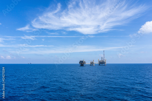 Poster Oceanië oil rig or platform at oilfield in Malaysia