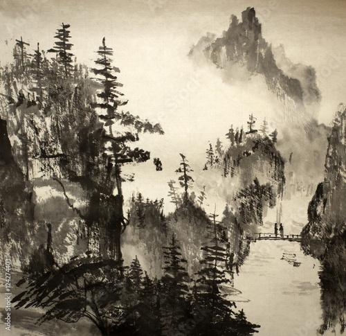 chinski-krajobraz-w-gorach