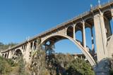 View of the Colorado Street Bridge in Pasadena, California, USA.  - 124274632