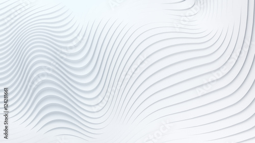 Tuinposter Abstract wave Wave band abstract background surface 3d rendering