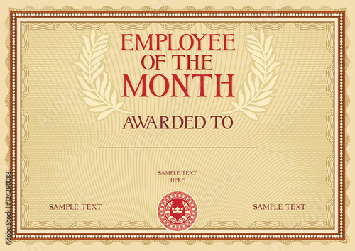 Employee of the month certificate template buy photos ap employee of the month certificate template maxwellsz