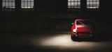 911 Oldtimer czerwony samochód sportowy, siedemdziesiątych samochodów wyścigowych