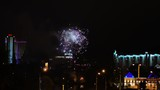 Beautiful fireworks above the city