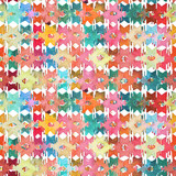 Watercolor ikat kilim ethnic seamless pattern. Geometric ornament in watercolour style.