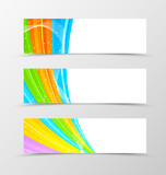 Set of header banner spectrum design