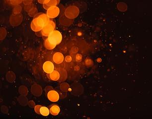 abstract orange grunge Christmas background. Festive elegant abs