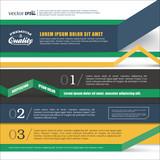 Design template for Infographics, website or brochures