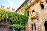 The original Romeo and Juliet balcony located in Verona, Italy - 124330074