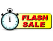 flash sale text with stopwatch