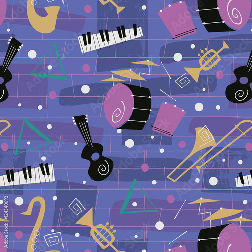 1950s Retro Mid-Century Seamless Pattern © Wingnut Designs