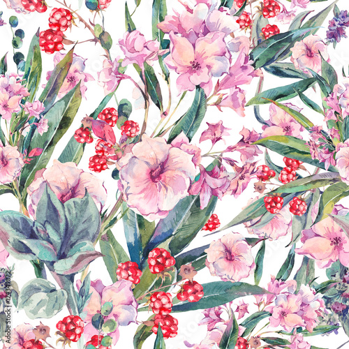 Materiał do szycia Exotic vintage floral seamless pattern