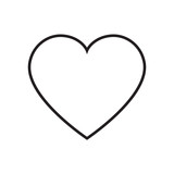 Heart outline icon vector - 124352663