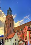 View of St. Elizabeth Church in Wroclaw, Poland