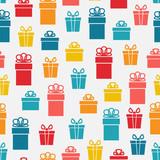 festive bright gift box seamless pattern