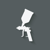 spray gun symbol - 124362600