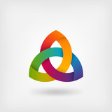 triquetra symbol in rainbow colors