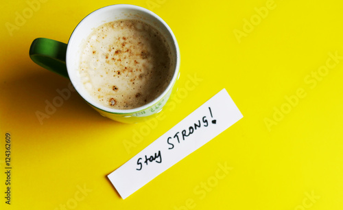 Stay strong motivational background Photo by moreidea