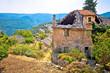 Rural stone village of Skrip ruins