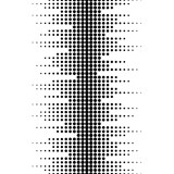 Vector monochrome seamless pattern. Dynamic visual effect, background with different sized dots. Black & white. Illustration of sound waves. Geometric texture for prints, digital, cover, decor, web