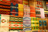 Colorful Native American textiles