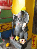 Guardian spirit protecting entrance of Shiva temple