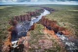 Aerial shot of King George River, North Kimberley, Western Australia