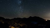 Starry night in countryside Time Lapse - Stars moving in night sky with milky way galaxy - Full HD 1920x1080